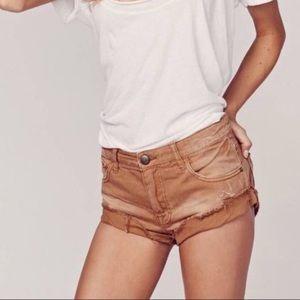Free People Irreplaceable denim cut off shorts